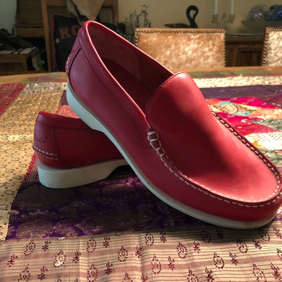 3423be9c74 Cole Haan Shoes | Red Leather Loafer Boat Nwot | Poshmark